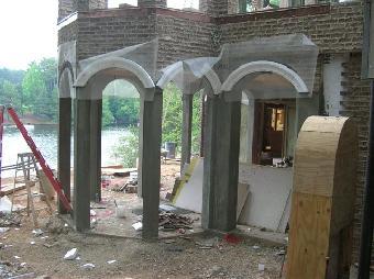 This Custom Built Porch Includes A Brick Floor Brick