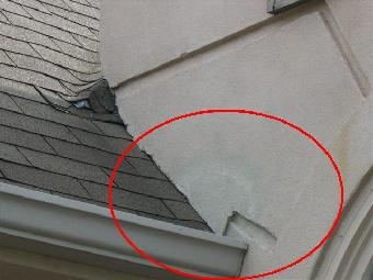 Close Up Of Improper Installation Of Diverter Flashing