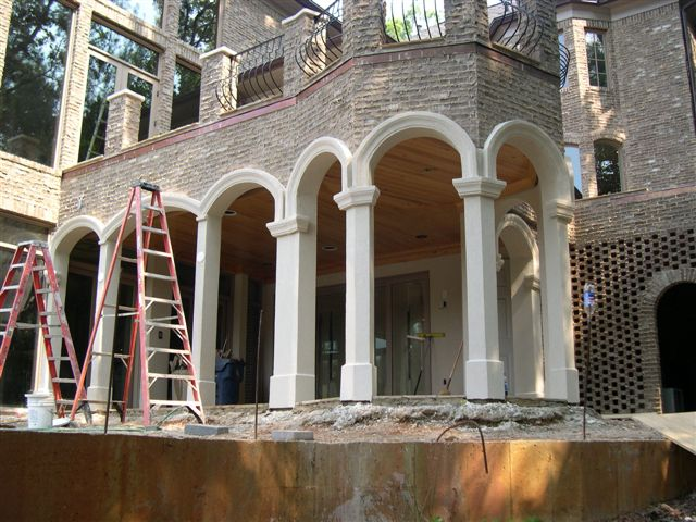 Stucco photos and pictures for Stucco columns